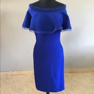 TADASHI BLUE DRESS